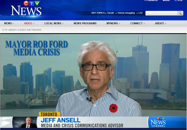 CTV Jeff Ansell Mayor Rob Ford